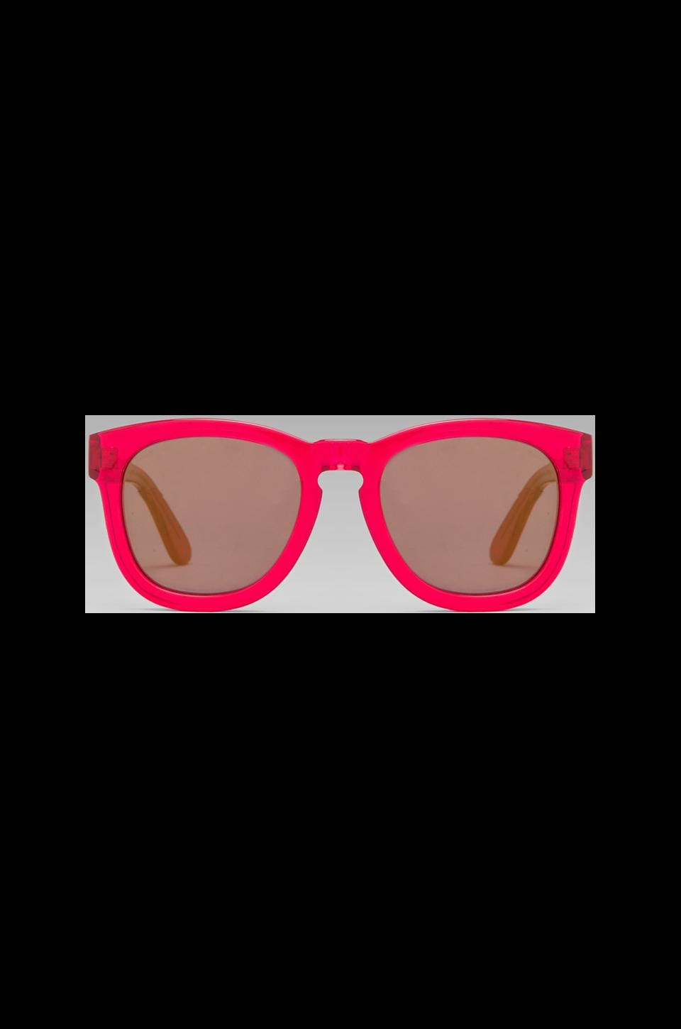 Wildfox Couture Couture Classic Fox Deluxe Sunglasses in Candy Red/Blue Mirror