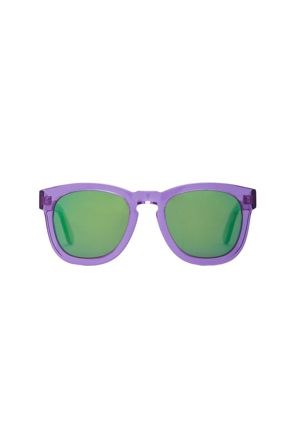 Wildfox Couture Classic Fox Deluxe Sunglasses in Purple/Blue Mirror