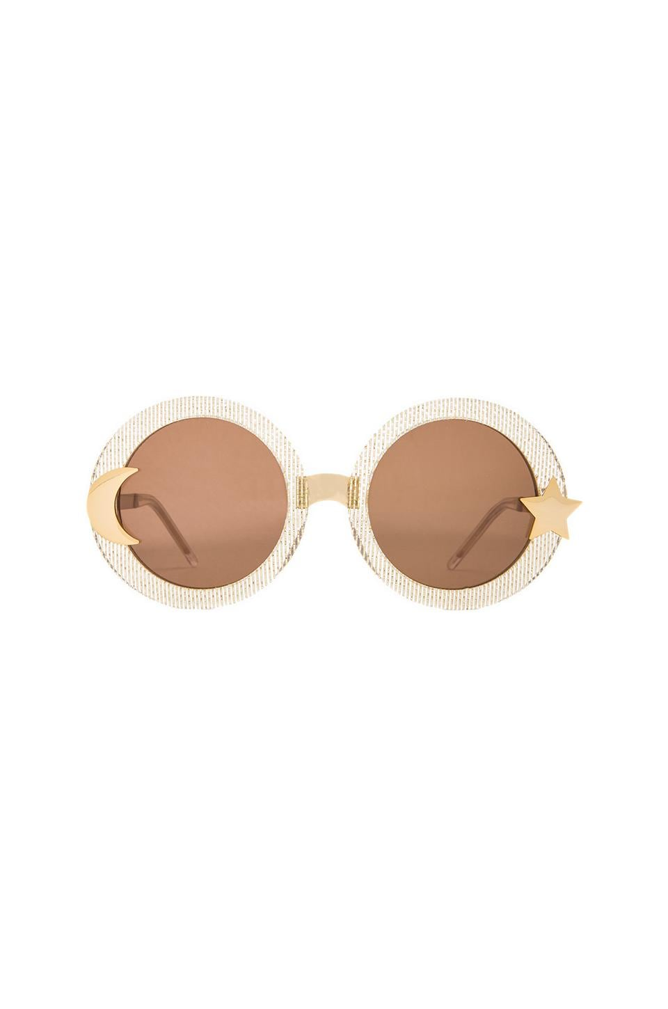 Wildfox Couture Luna Sunglasses in Gold Mesh