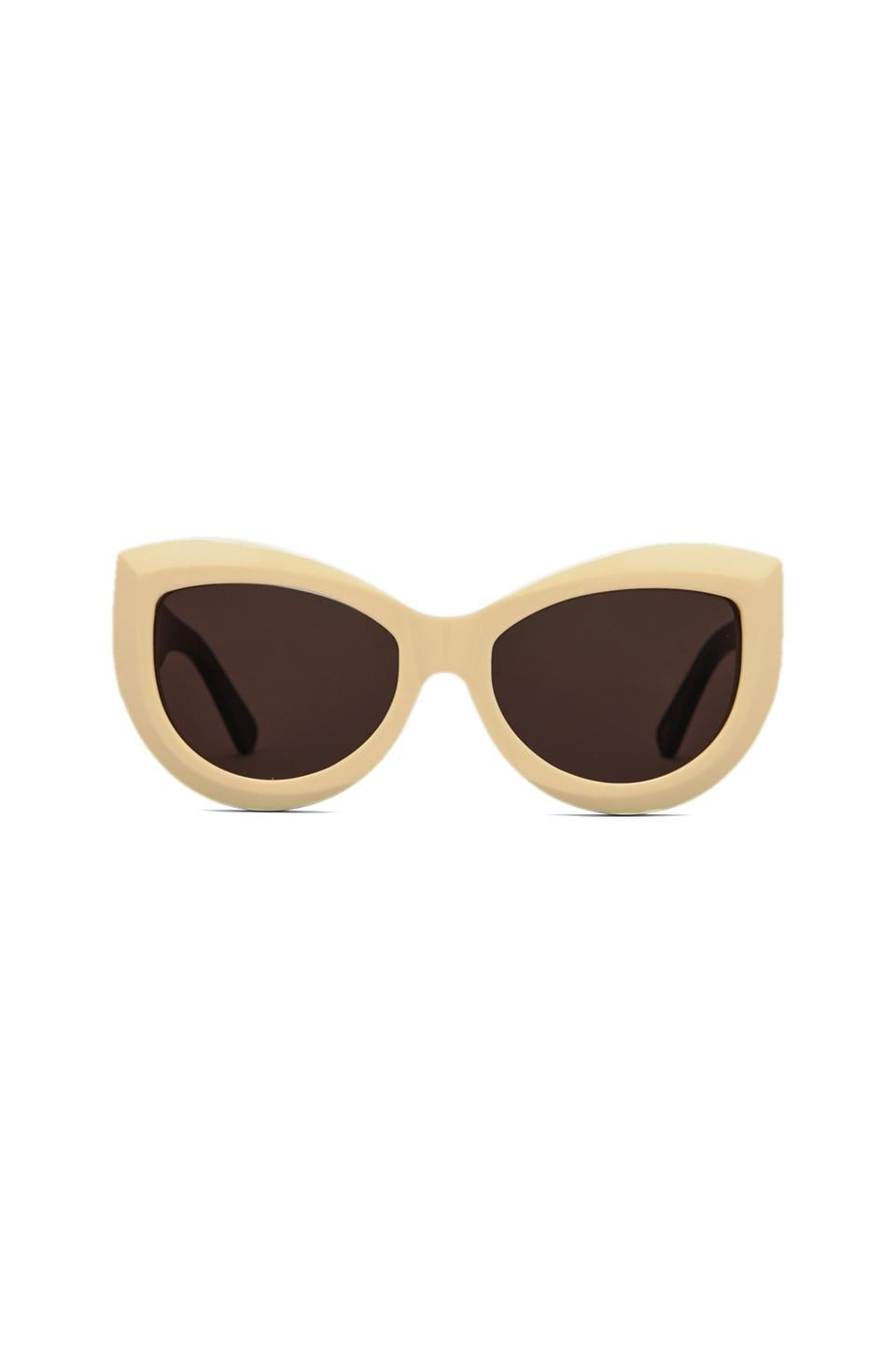 Wildfox Couture The Kitten Sunglasses in Cream/Black/Brown