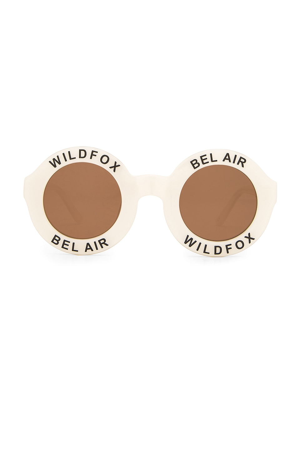 Wildfox Couture Bel Air Sunglasses in Pearl White & Brown Sun