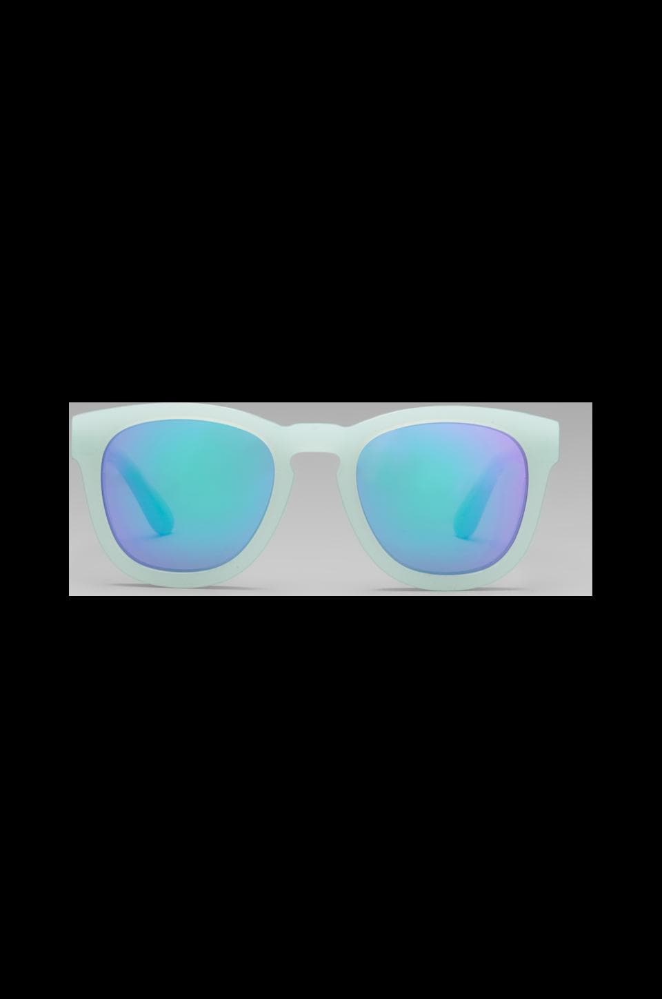 Wildfox Couture Classic Deluxe Sunglasses in Mint/Blue Green