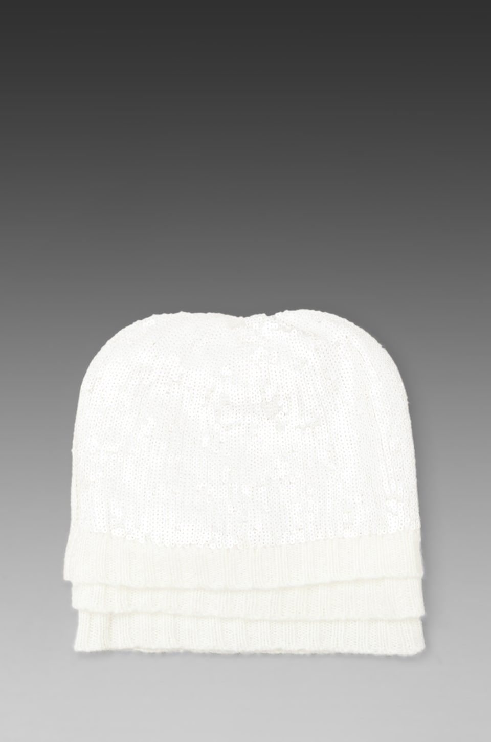 Wildfox Couture White Label Ballroom Layered Beanie in Clean White
