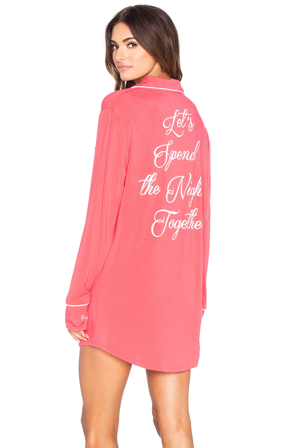 Wildfox Couture Let's Spend The Night Together Button Up in Vintage Valentine