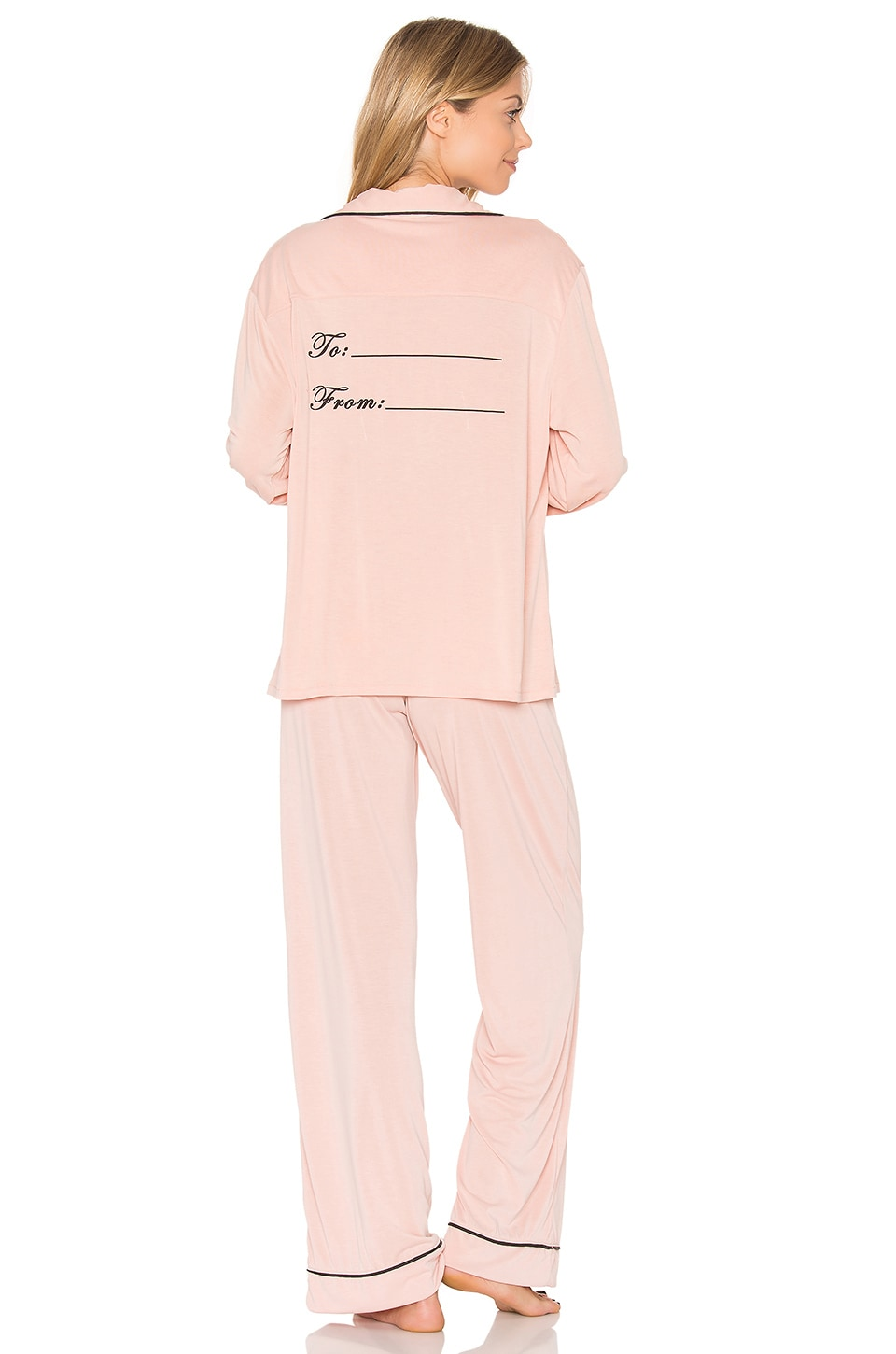 Wildfox Couture From Me to You Pajama Set in Dusty Rose