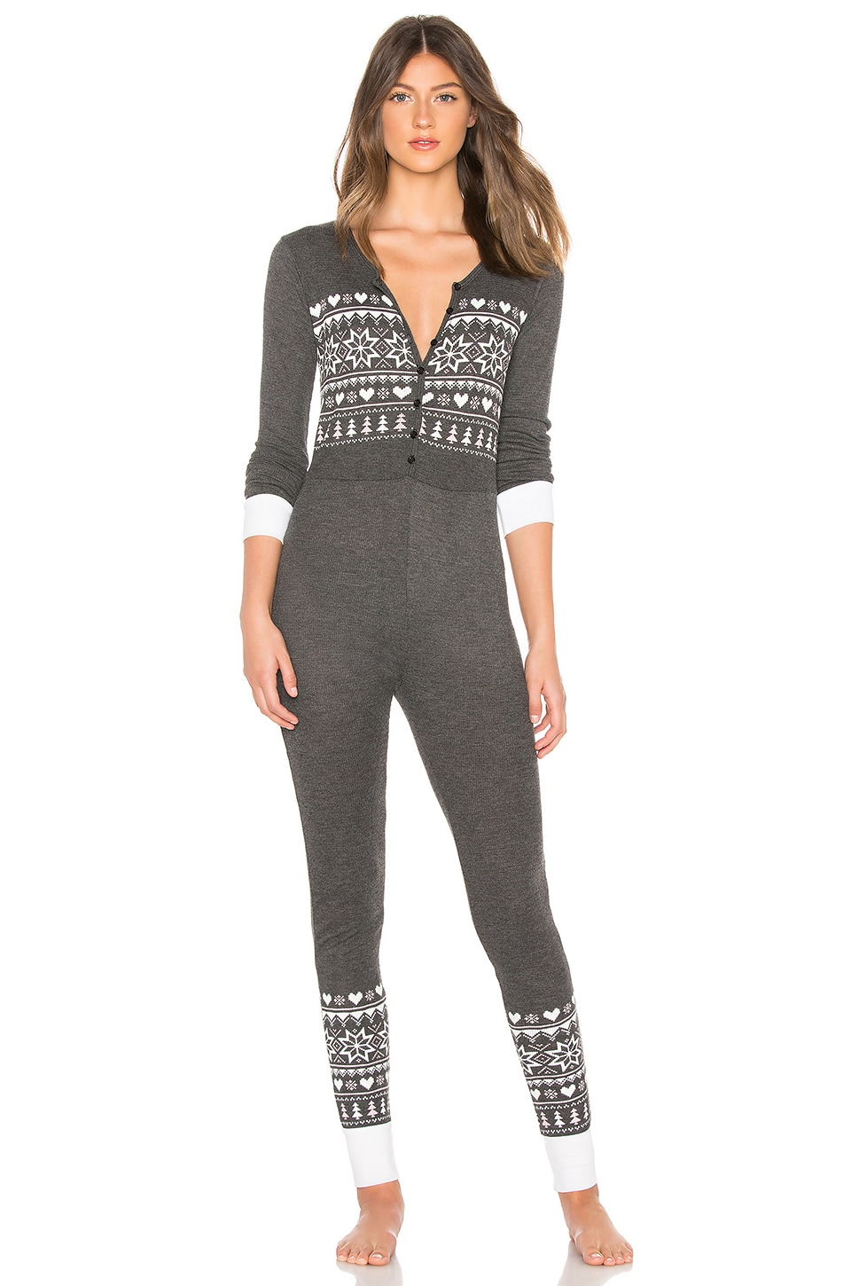 Wildfox Couture Fair Isle Onsie in Clean Black