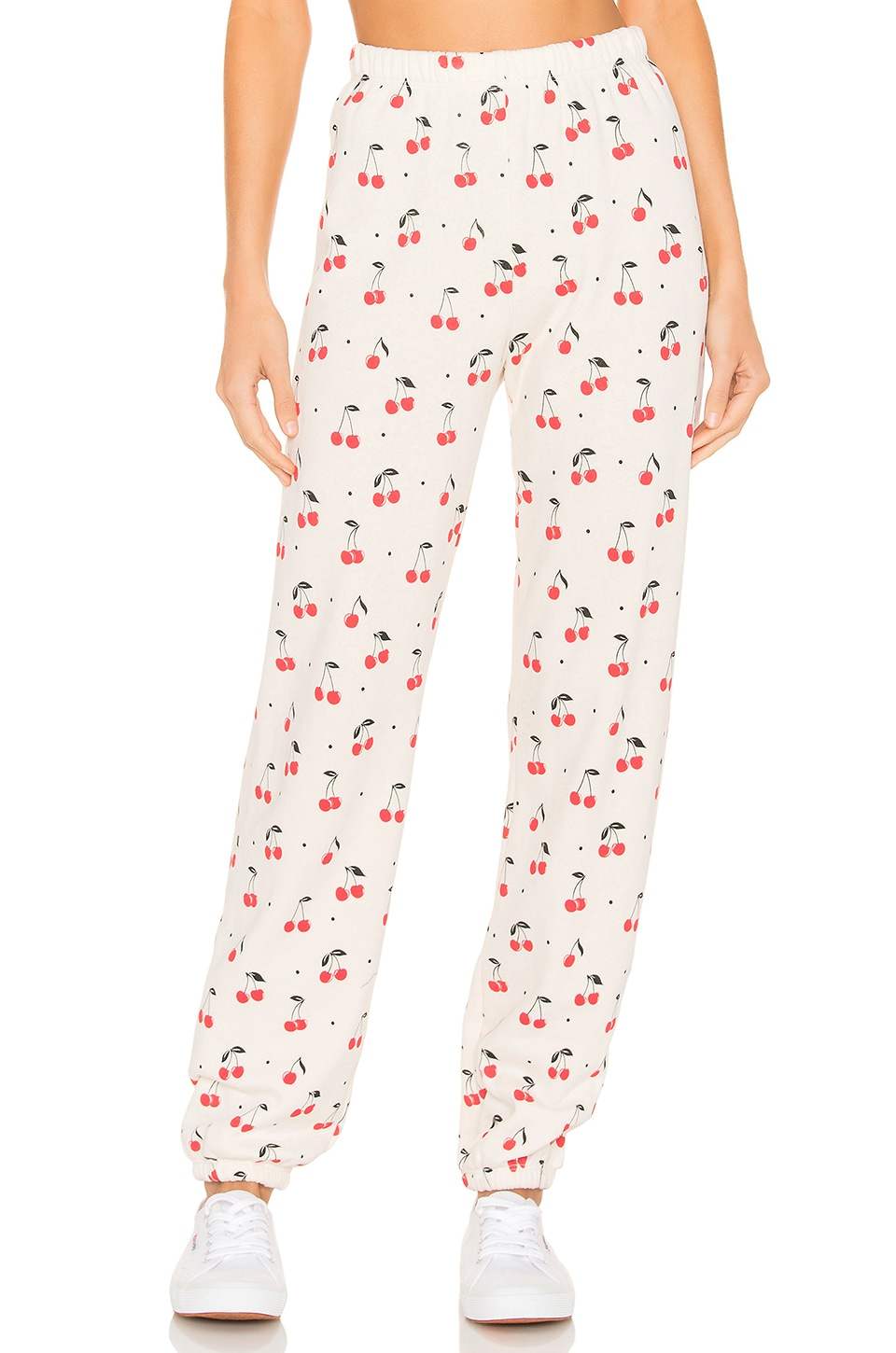 Wildfox Couture Cherry Oh Baby Easy Sweatpant in Vintage Lace