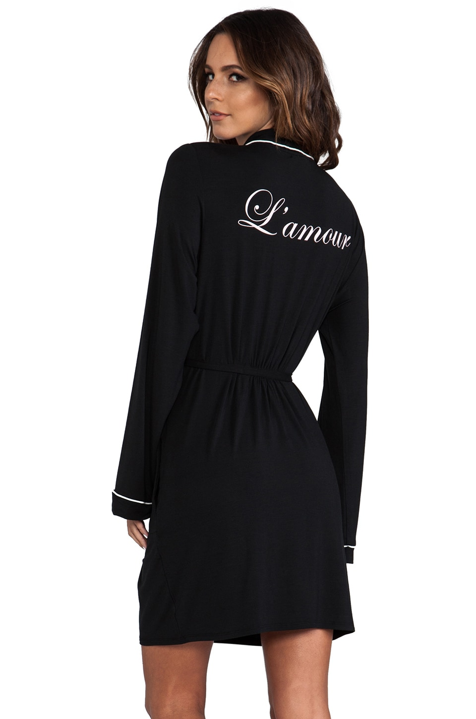 Wildfox Couture Never Get Dressed Robe in Black