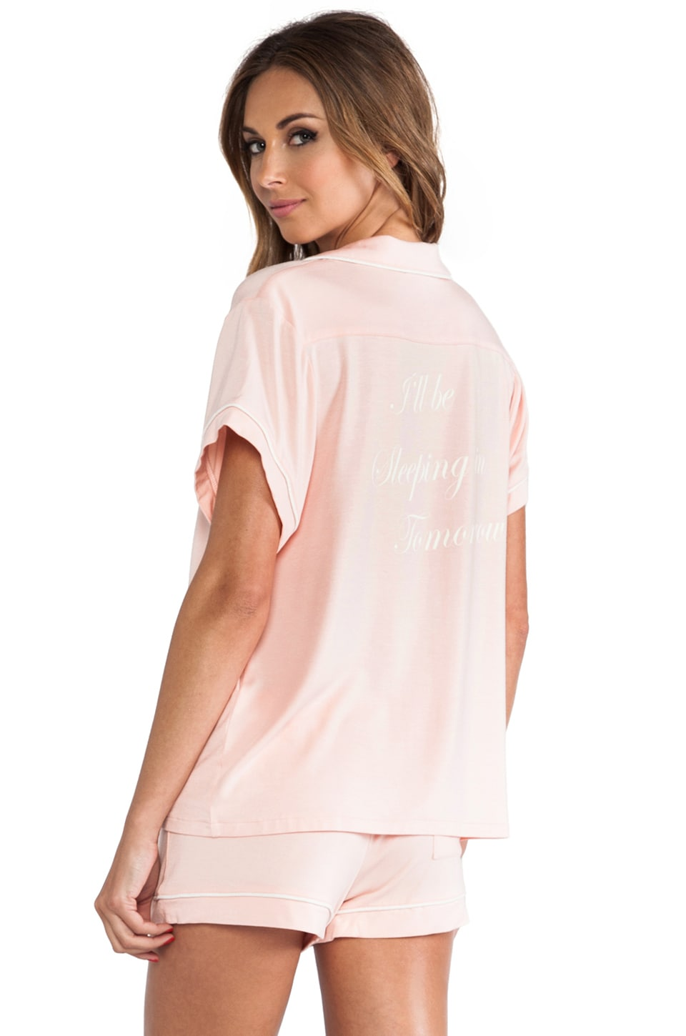 Wildfox Couture Sleeping In Classic PJ Set in Pink