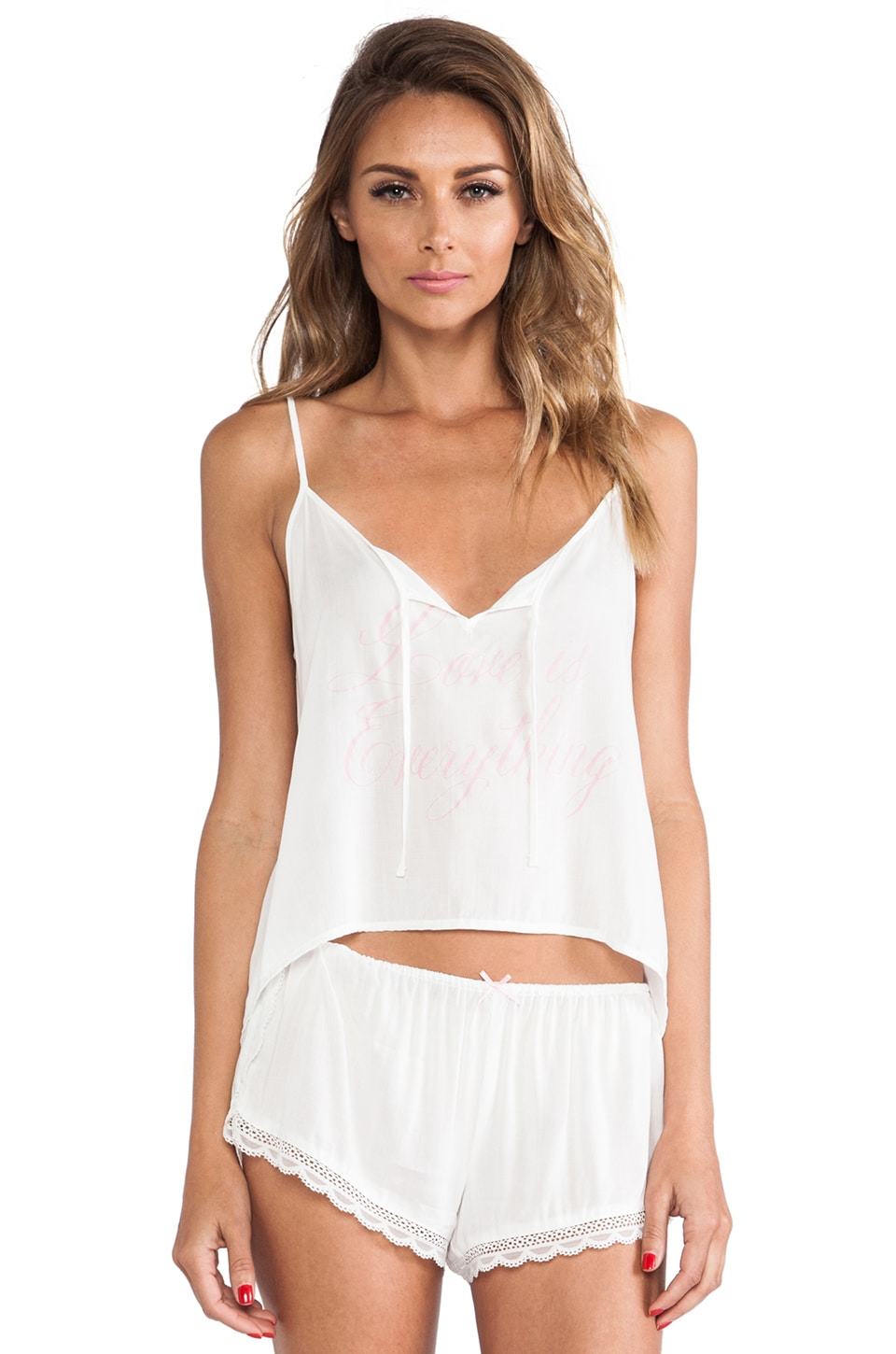 Wildfox Couture Love is Everything Summer Sleep Set in Ivory