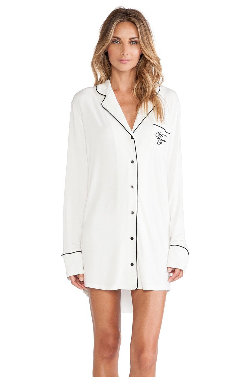 Wildfox Couture Good Night Sleep Shirt in Vanilla