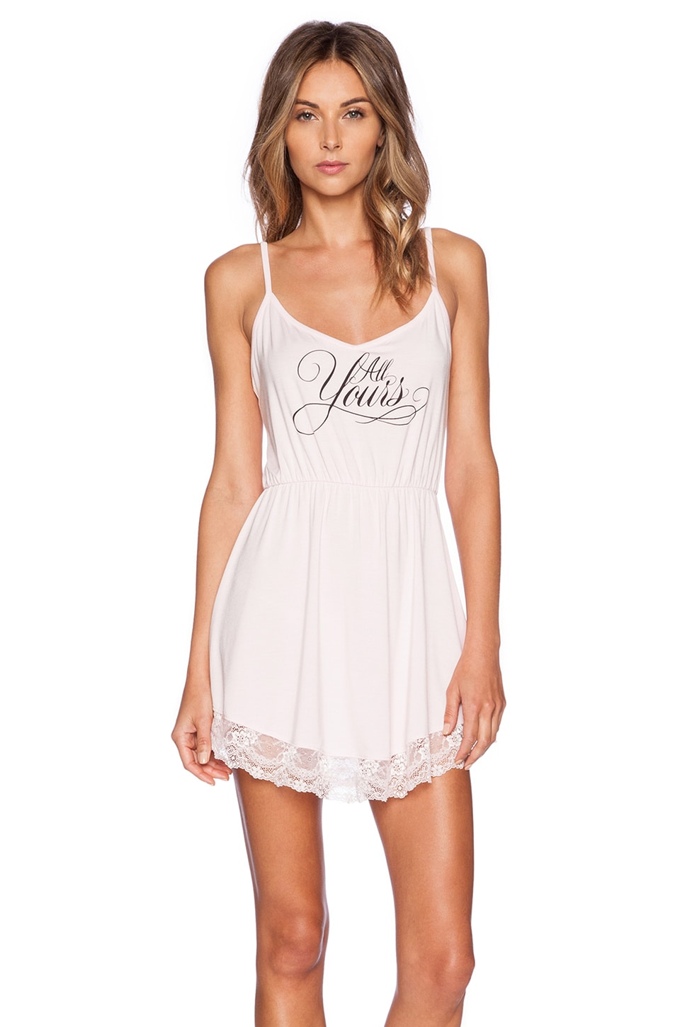 Wildfox Couture Intimates Wedding Night Chemise in Blushing Bride