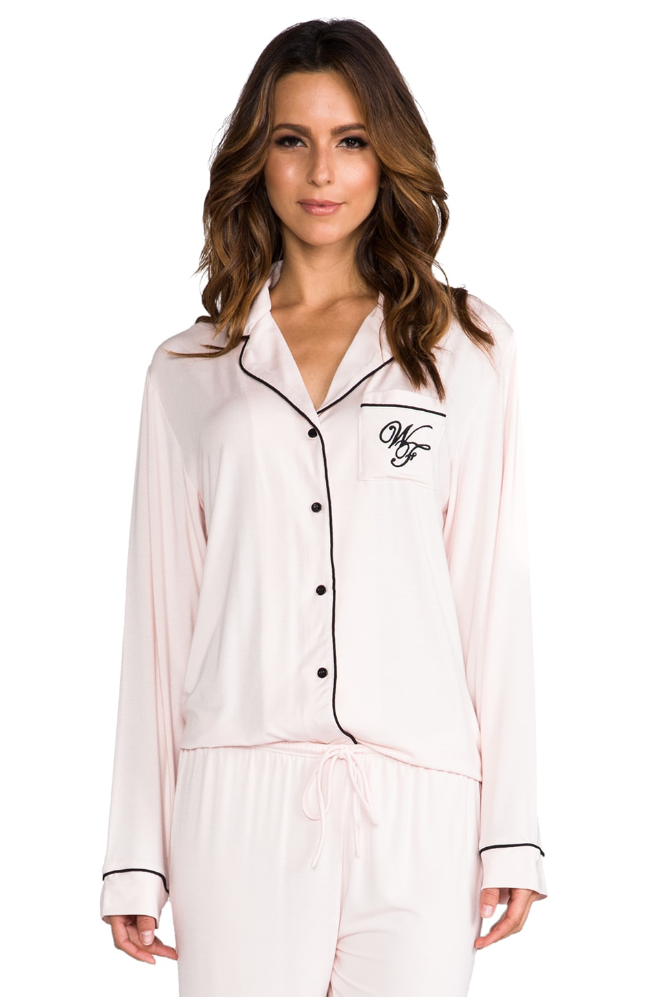 Wildfox Couture Je T'aime & WF Logo Pj Set in Pink