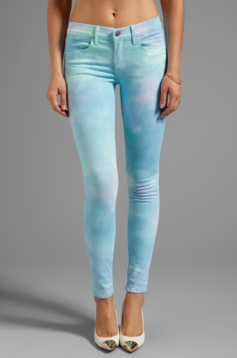 Wildfox Couture Marine Mid-Rise Skinny in Day Dream
