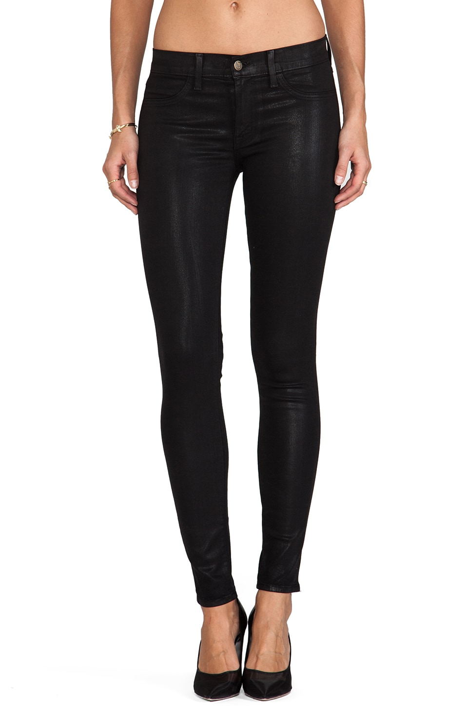 Wildfox Couture Marianne Mid Rise Skinny in Onyx