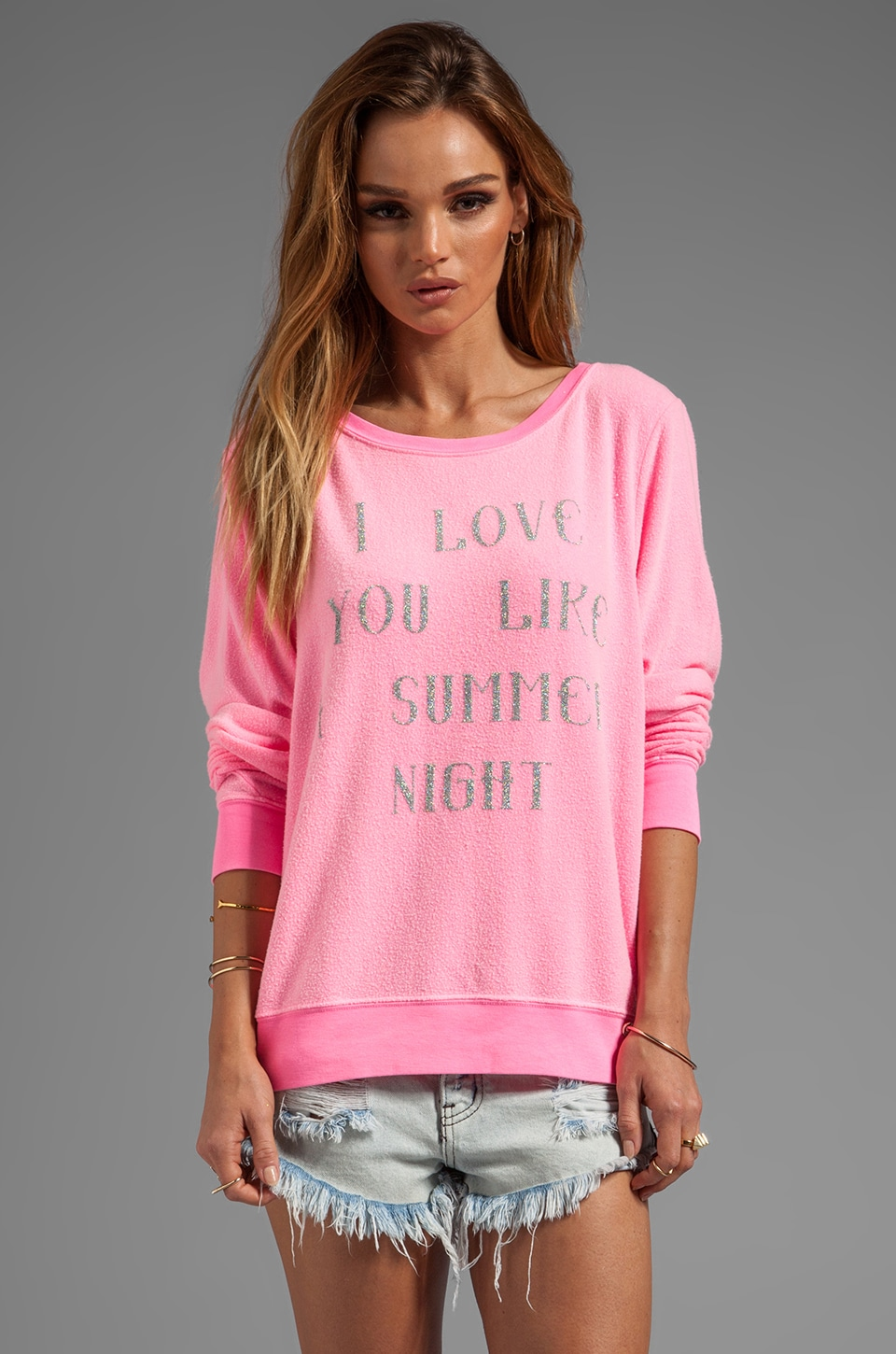 Wildfox Couture Love You Like Summer Pullover in Party Girl