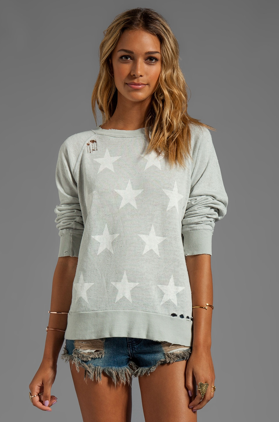 Wildfox Couture Starshine Malibu Sweater in Smoke