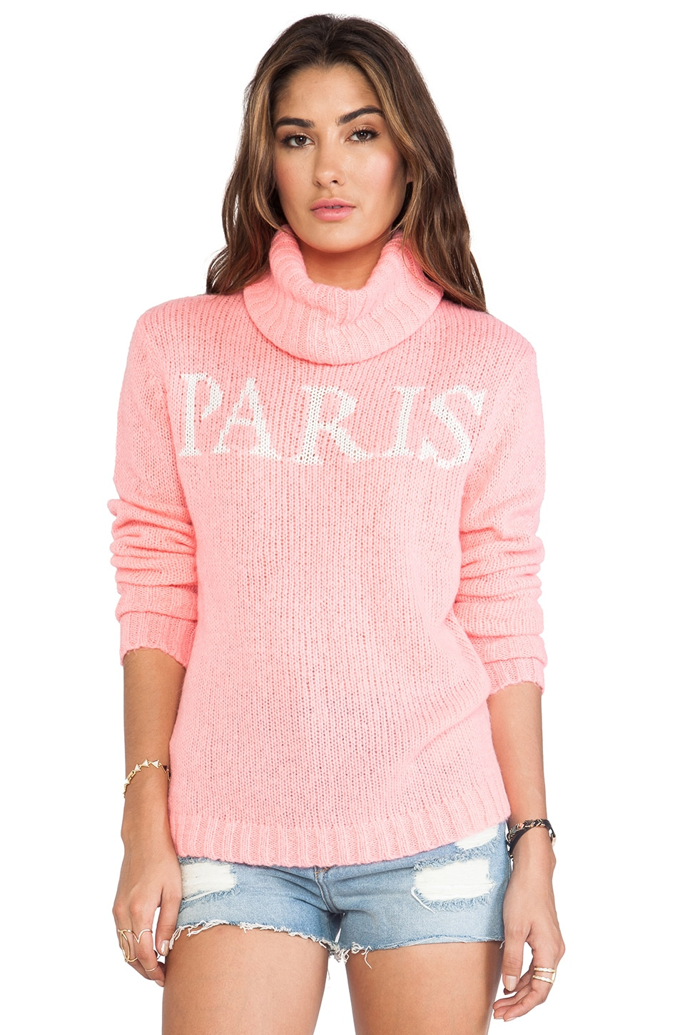 Wildfox Couture White Label Paris Is Home Seatle Sweater in Neon Sign