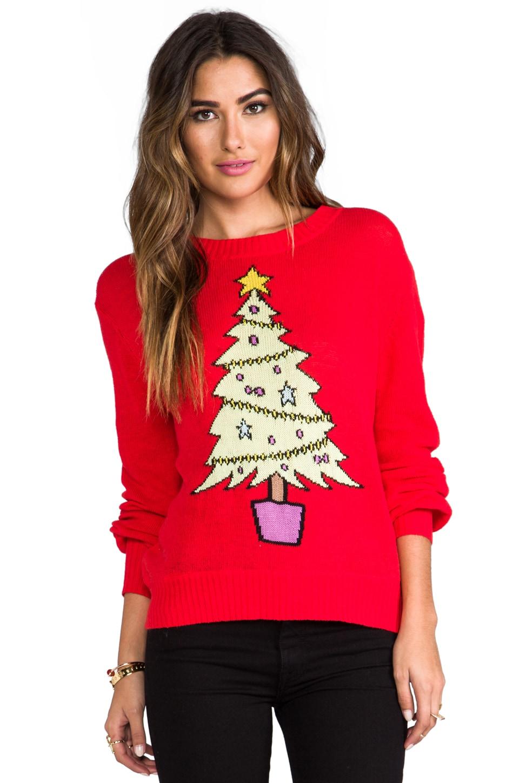 Wildfox Christmas Sweater.Baby Christmas Tree Sweater
