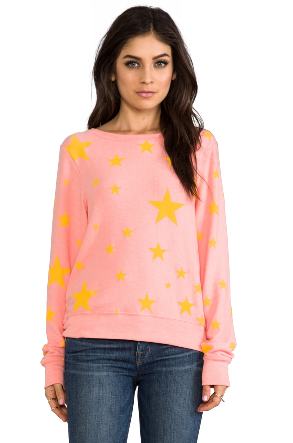 Wildfox Couture Disco Star Baggy Beach Jumper in 70's Lipstick
