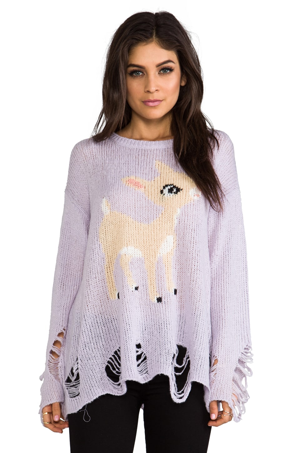 Wildfox Couture Little Helper Pullover in Periwinkle