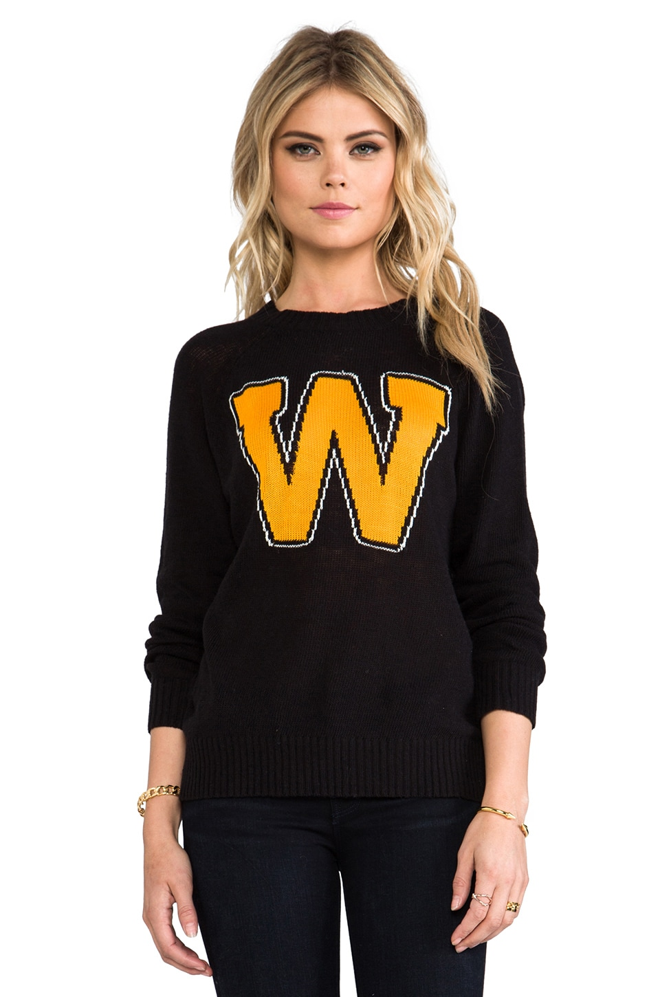 Wildfox Couture Roller Disco Pullover in Clean Black