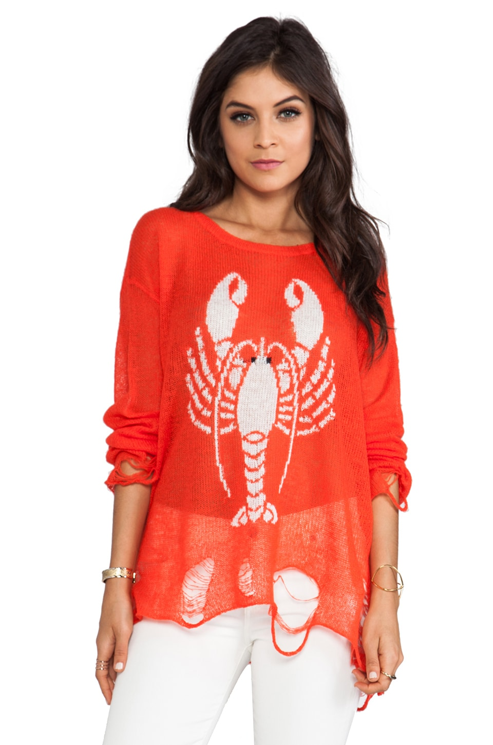 Wildfox Couture Lenon Lobster Sweater in Lifeguard