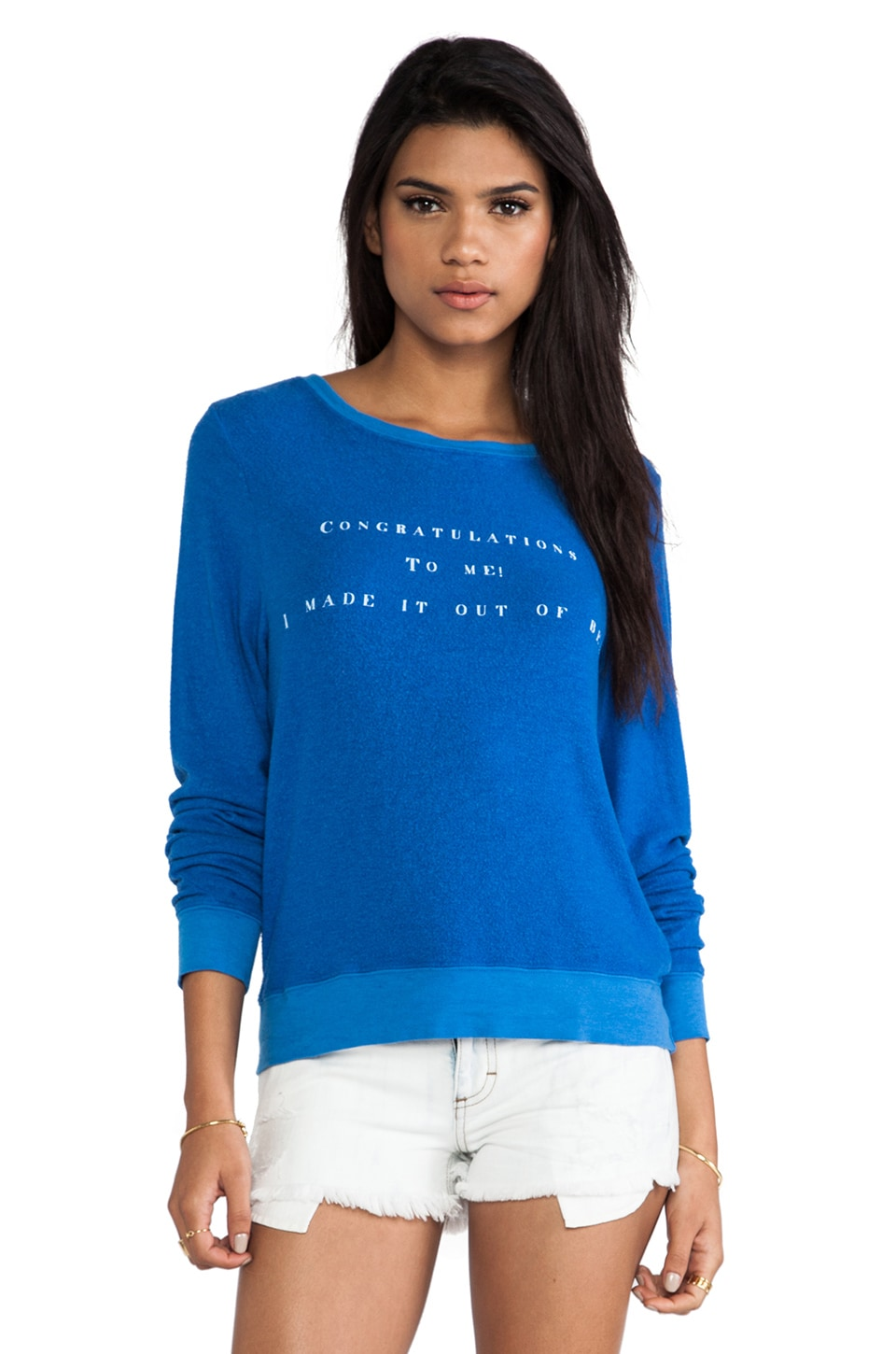 Wildfox Couture Congrats Pullover in Night Owl