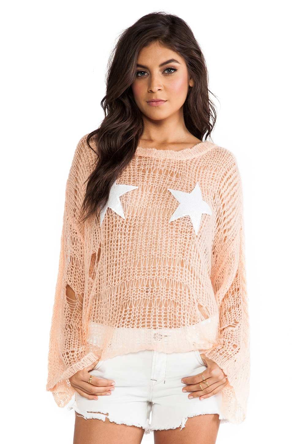 Wildfox Couture Lost Sweater in Peach Puff