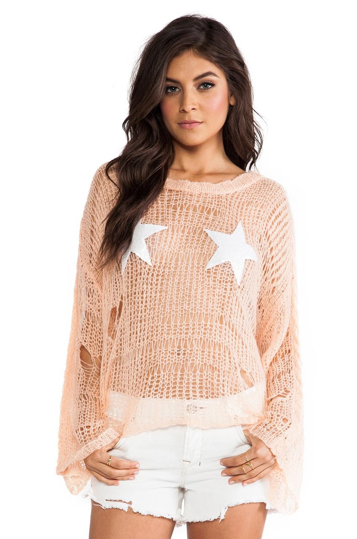 Wildfox Couture Lost Sweater in Peach Puff