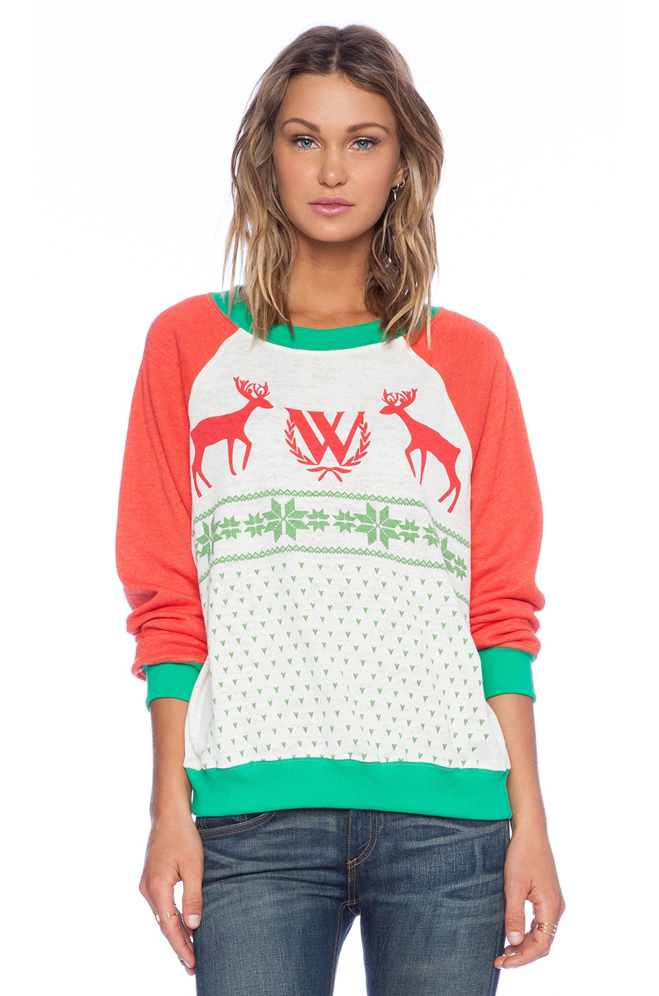 Wildfox Couture Pastel Snow Babe Sweater in Multi | REVOLVE