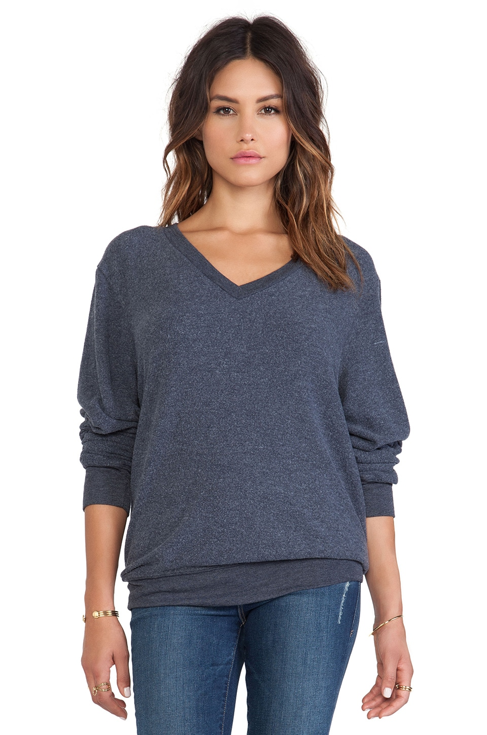Wildfox Couture V-Neck Baggy Beach Jumper in