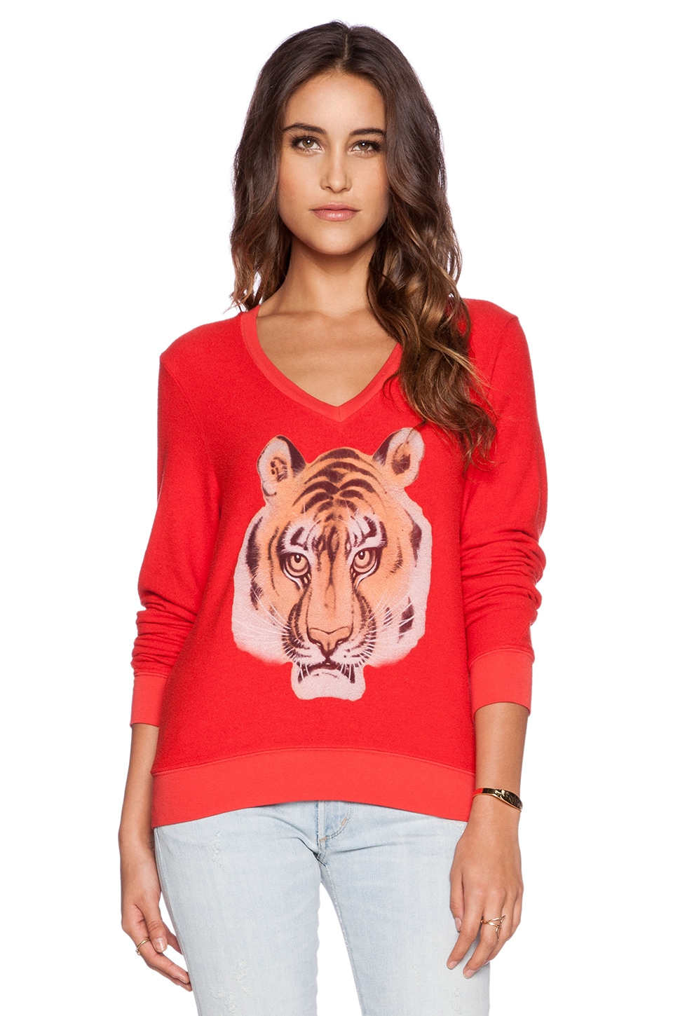 Wildfox Couture The Laziest Tiger Ever Pullover in India Poly