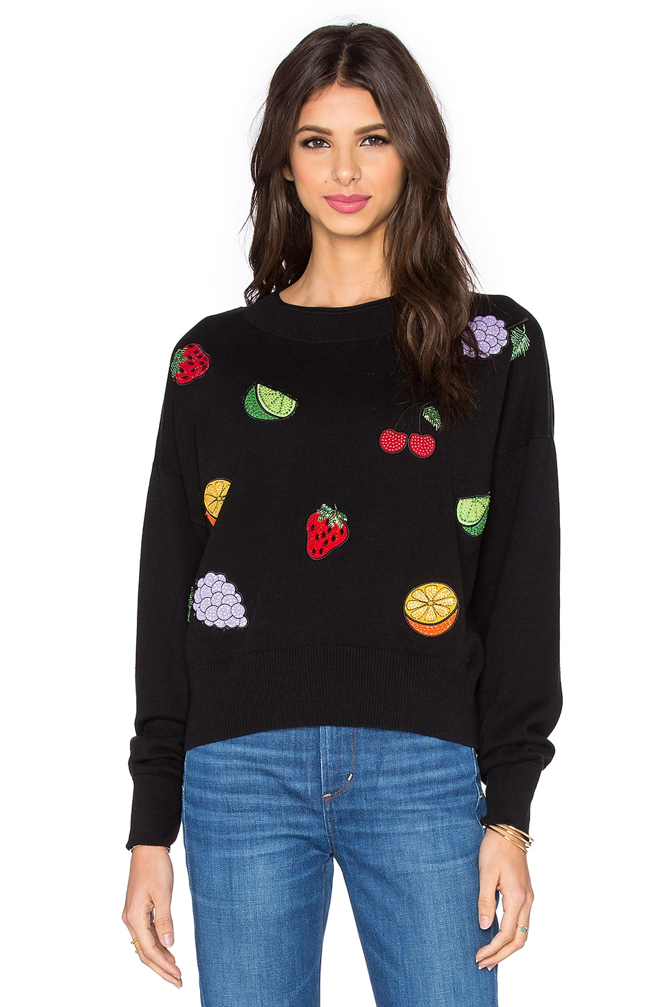 Wildfox Couture Fruity Fader Sweater in Dark Moon