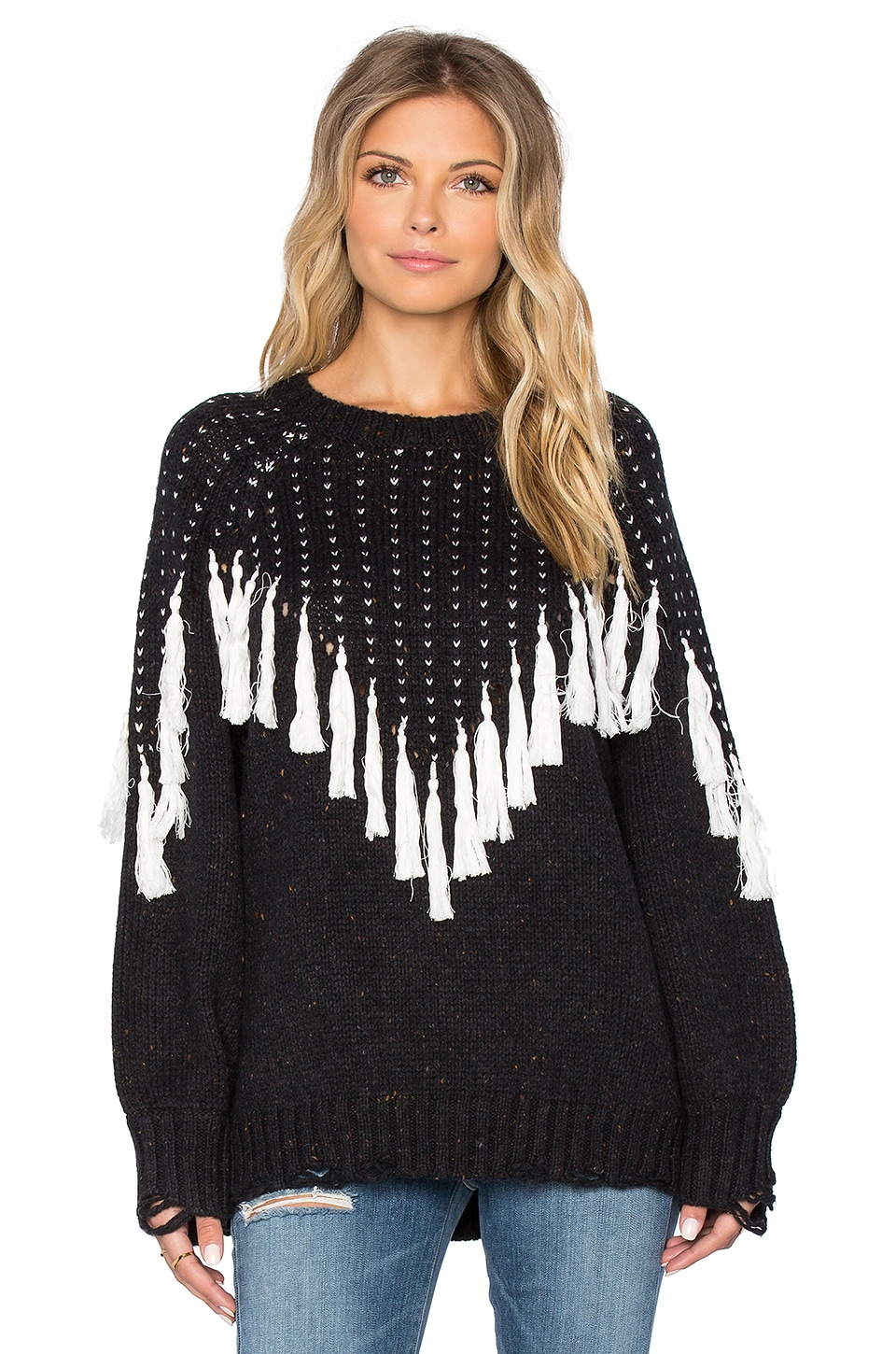 Wildfox Couture Effie Sweater in Dirty Black
