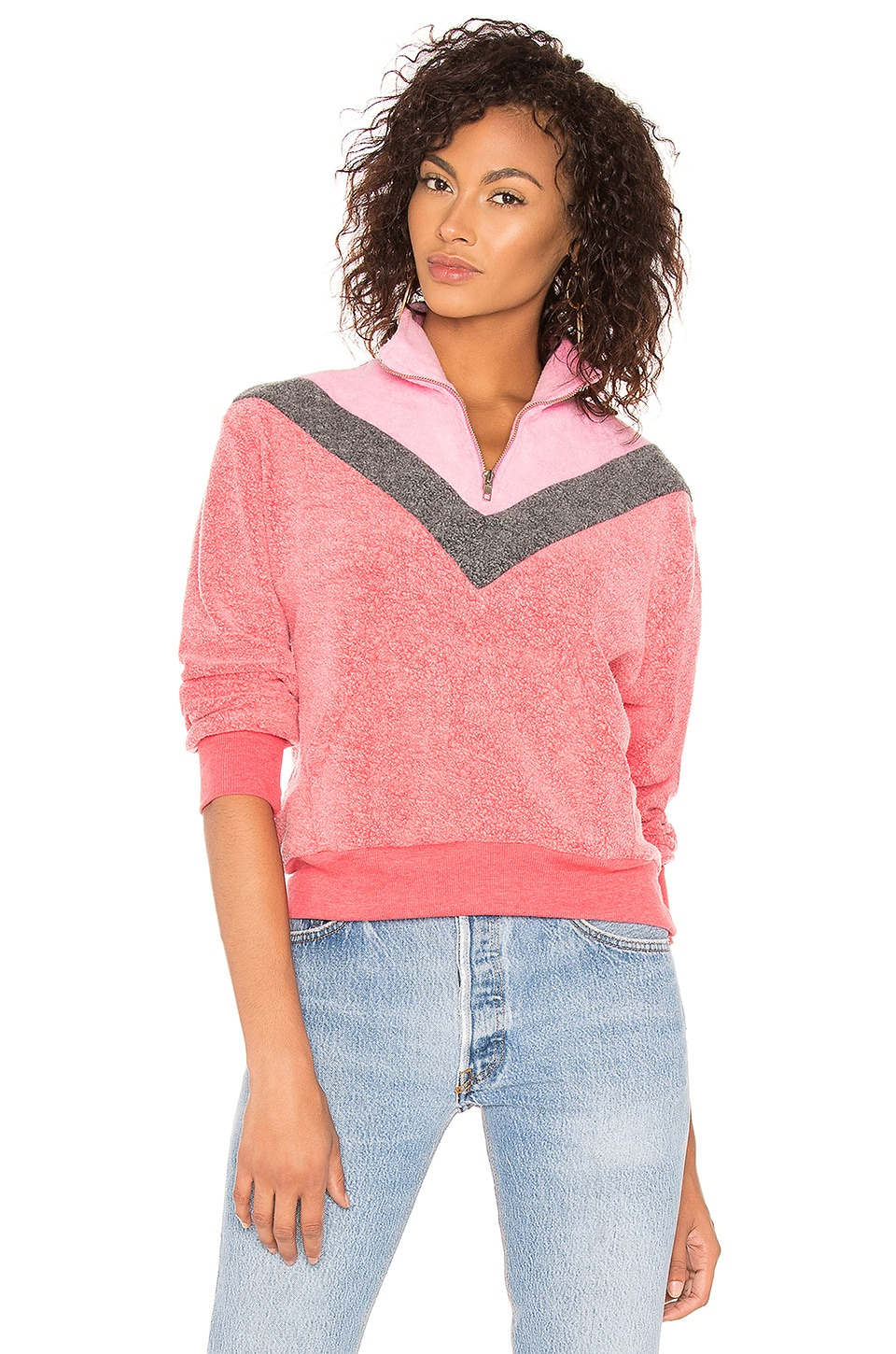 Wildfox Couture Warm Up Sweatshirt in Scarlet