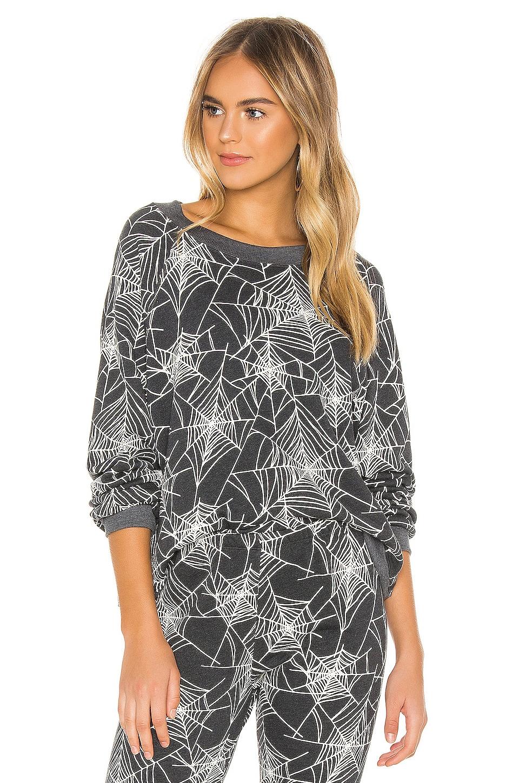 Wildfox Couture Black Widow Sommers Sweatshirt in Night