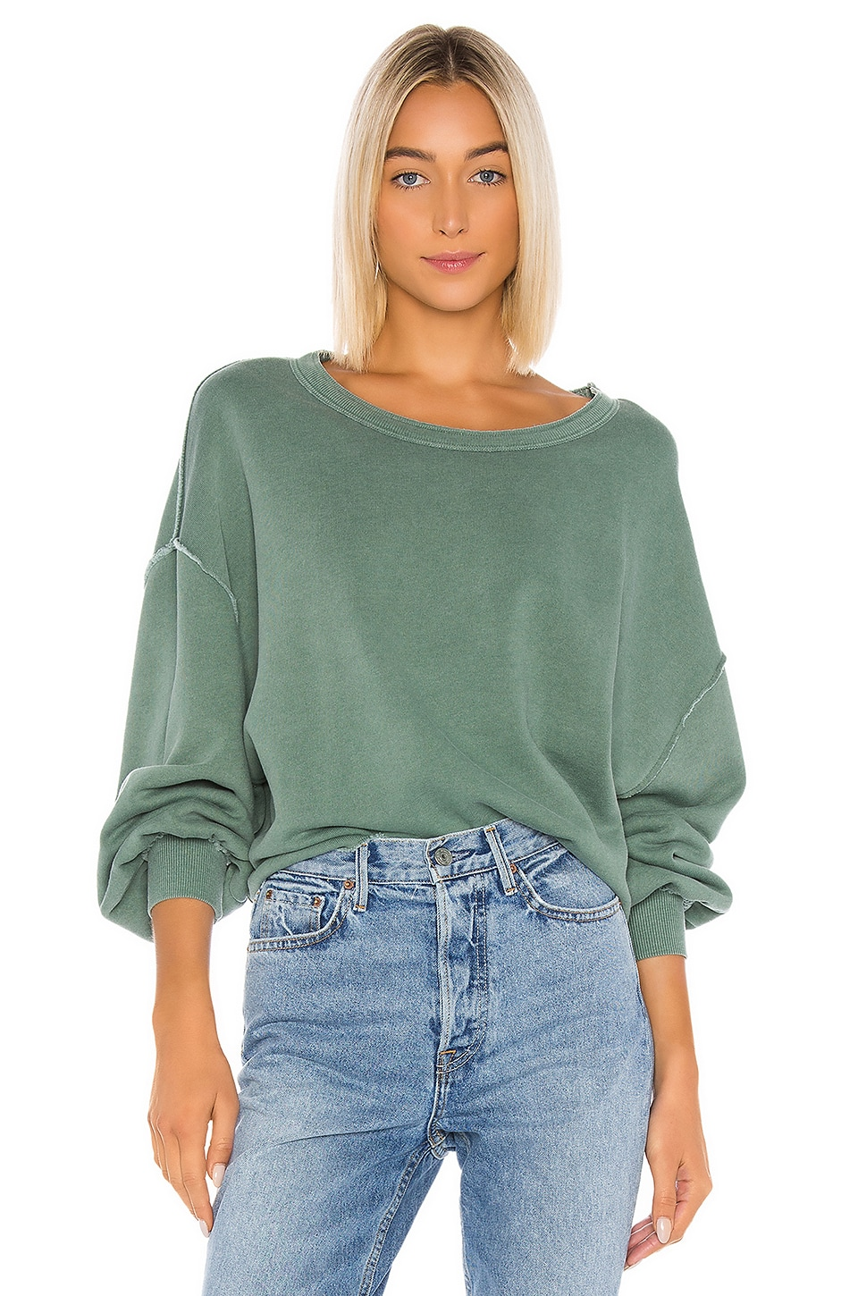 Wildfox Couture Olivia Sweatshirt in Pigment Cadet