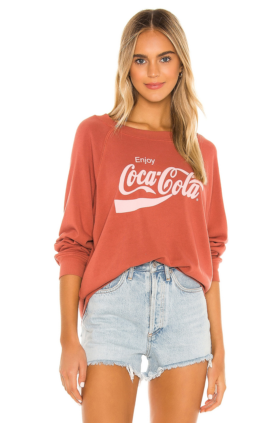 Wildfox Couture Enjoy Coco-Cola Sommers Sweatshirt in Sienna