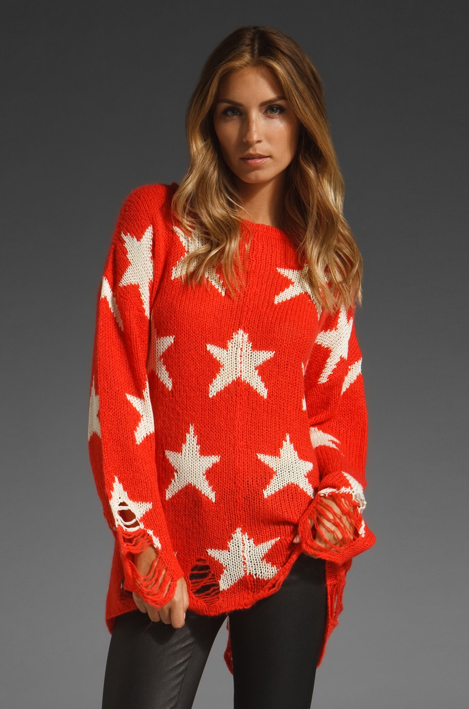 Wildfox Couture Seeing Stars Lennon Sweater in Free Love