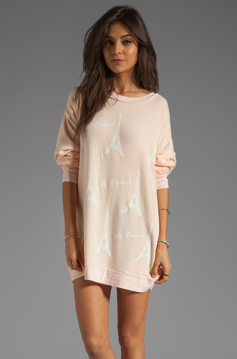 Wildfox Couture Paris Je T'aime Roadtrip Tunic in Dionne