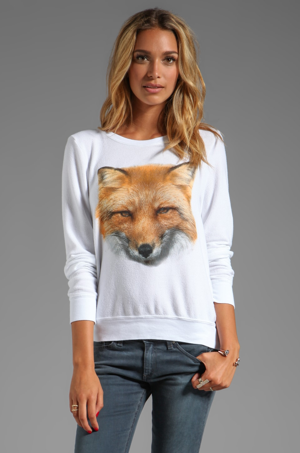 Wildfox Couture Fox in Clean White
