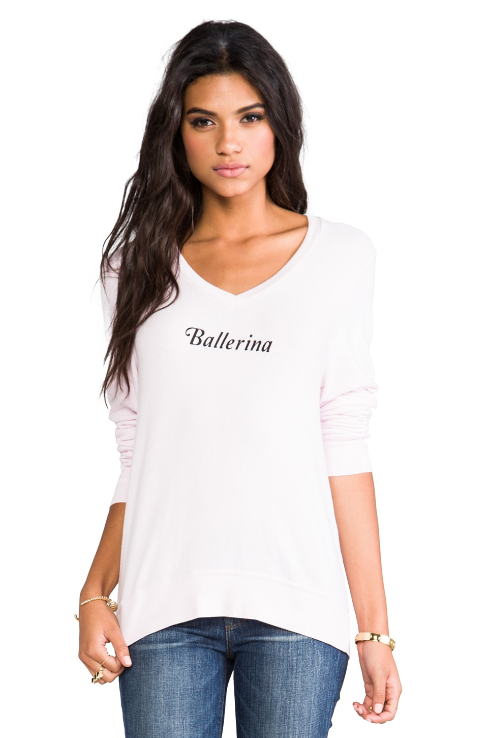 Wildfox Couture Ballerina Baggy Beach V Neck in Daisy