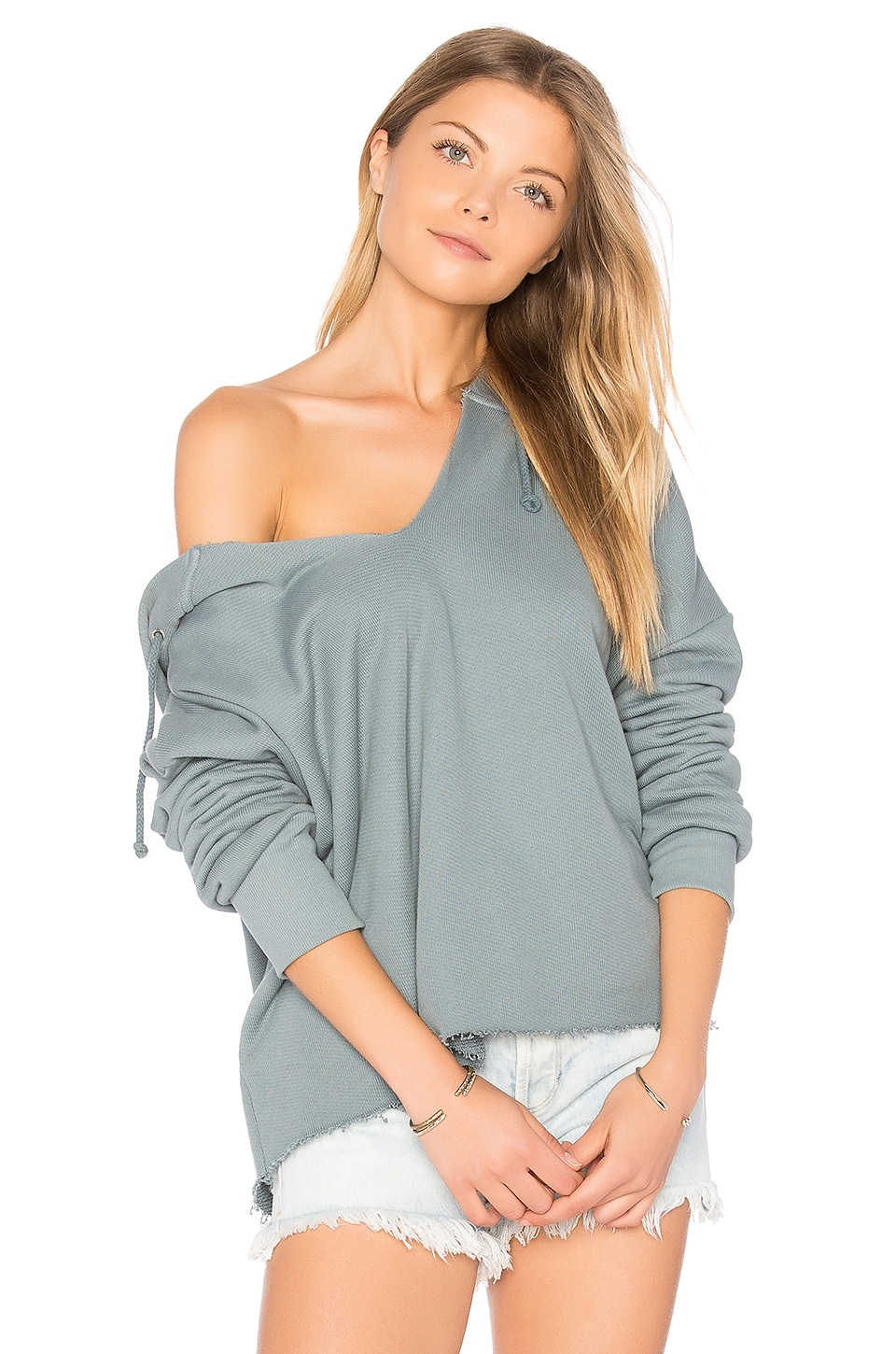 Wildfox Couture Slate V-Neck Hoodie