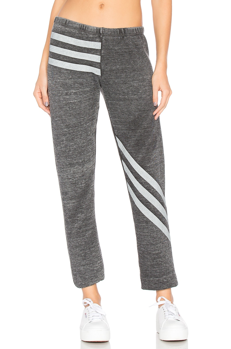 Burnout Fleece Tri Stripe Bottoms by Wildfox Couture