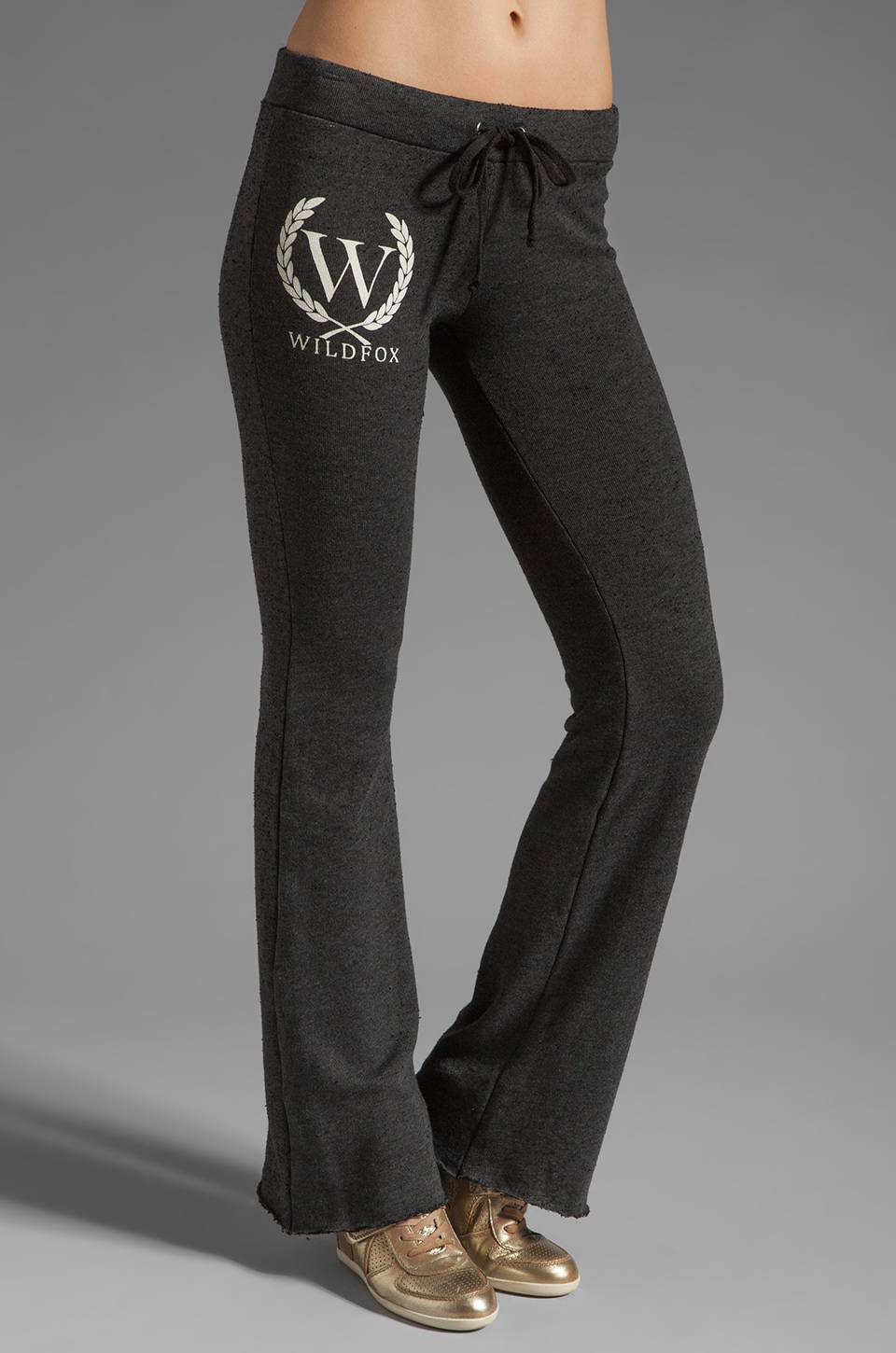 Wildfox Couture Shopping Sweats Yacht Club Pants in Clean Black