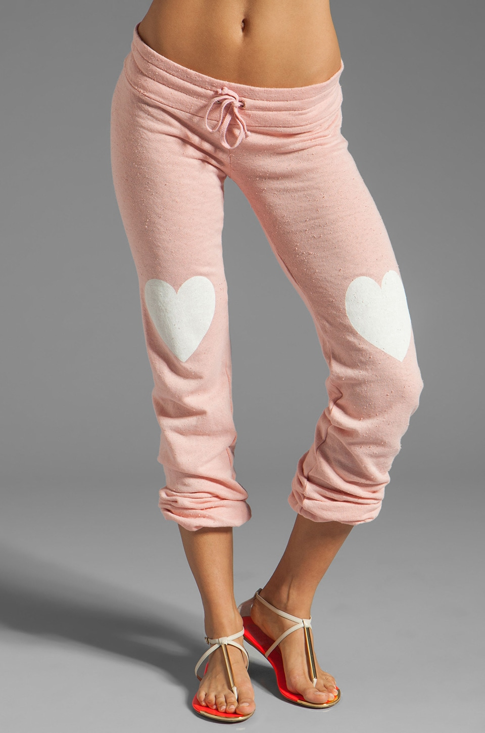 Wildfox Couture Lover Bottoms Skinny Sweatpants in Poodle Pink
