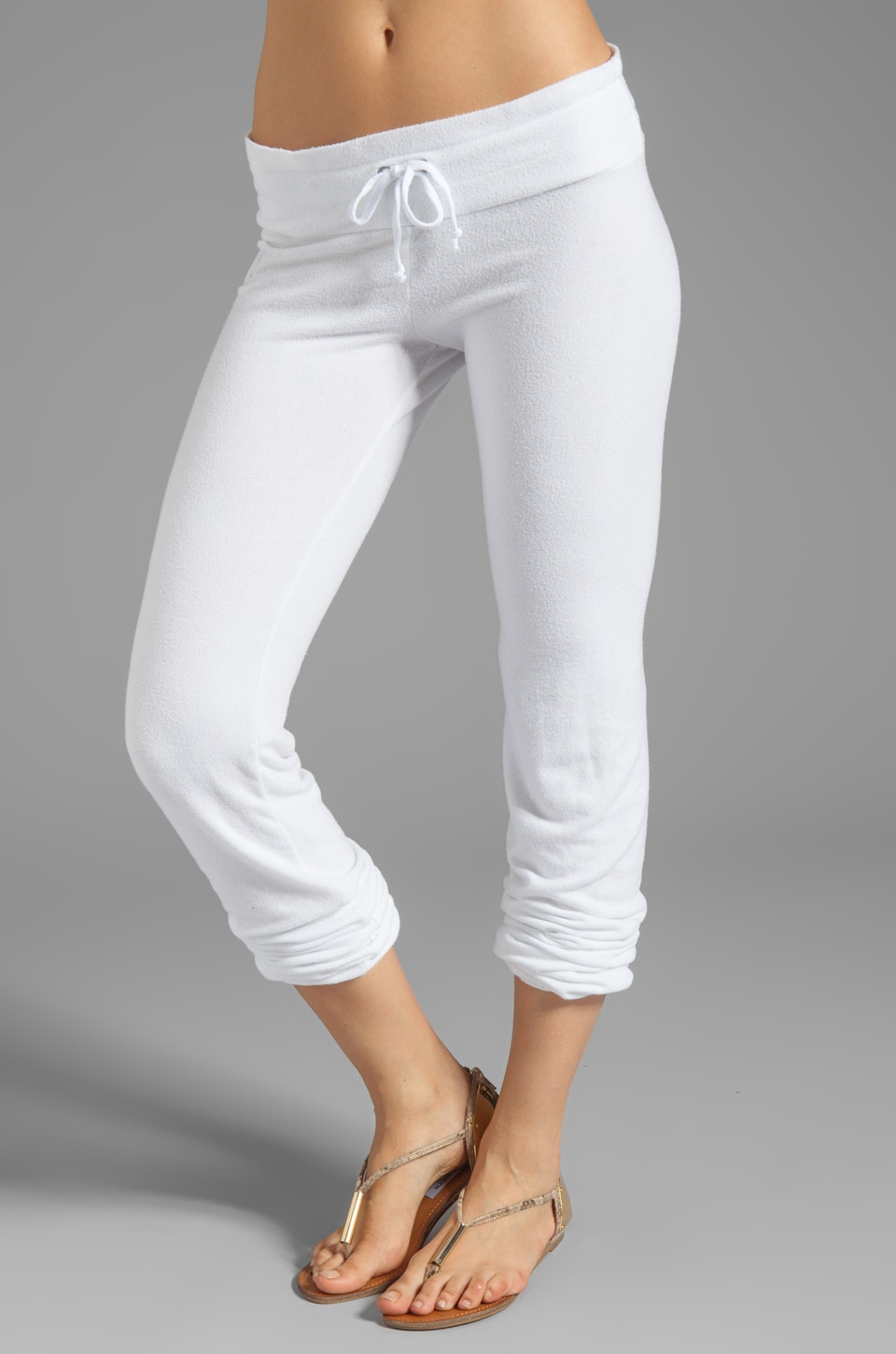 Wildfox Couture Malibu Skinny Sweats in Clean White