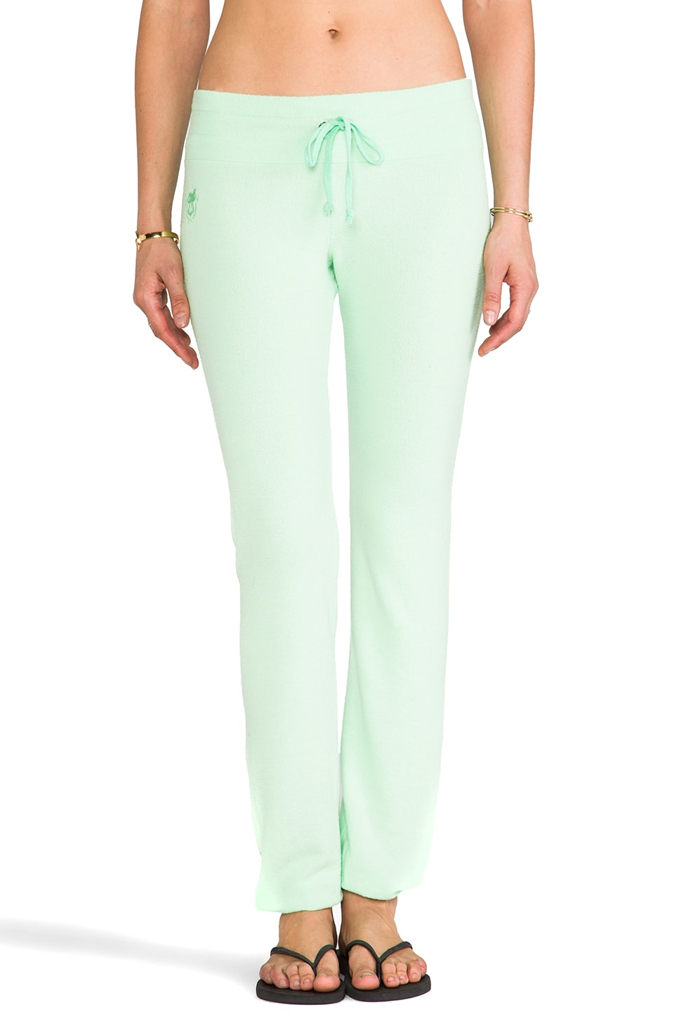 Wildfox Couture Malibu Skinny Sweats in Mint Julep