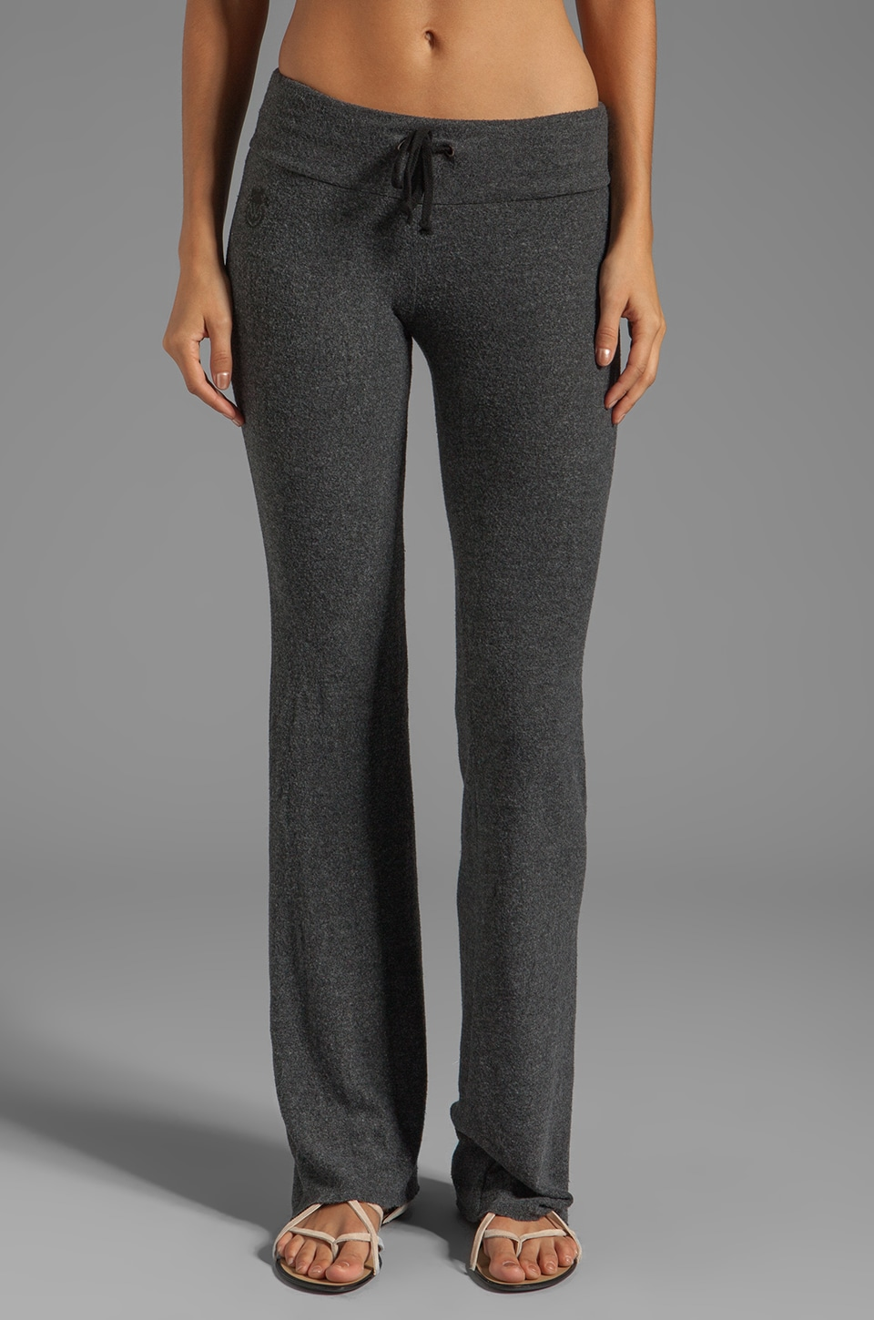 Wildfox Couture Tennis Club Sweat Pants in Clean Black
